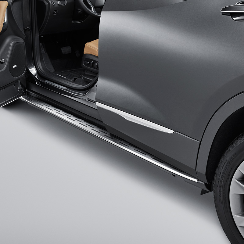 2019 Blazer Assist Steps, Black, Molded, Bright Step Pad