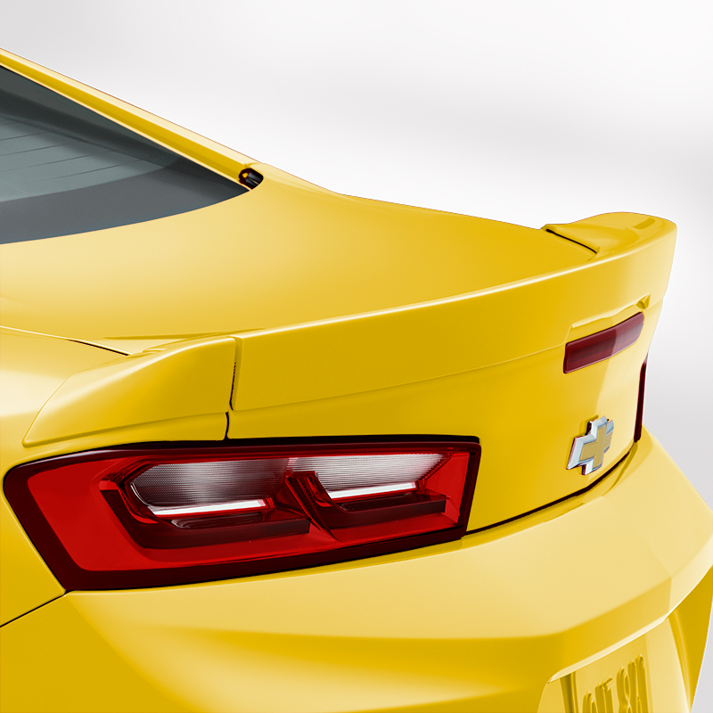 2016 Camaro Coupe Blade Spoiler Kit, Bright Yellow (G7D)